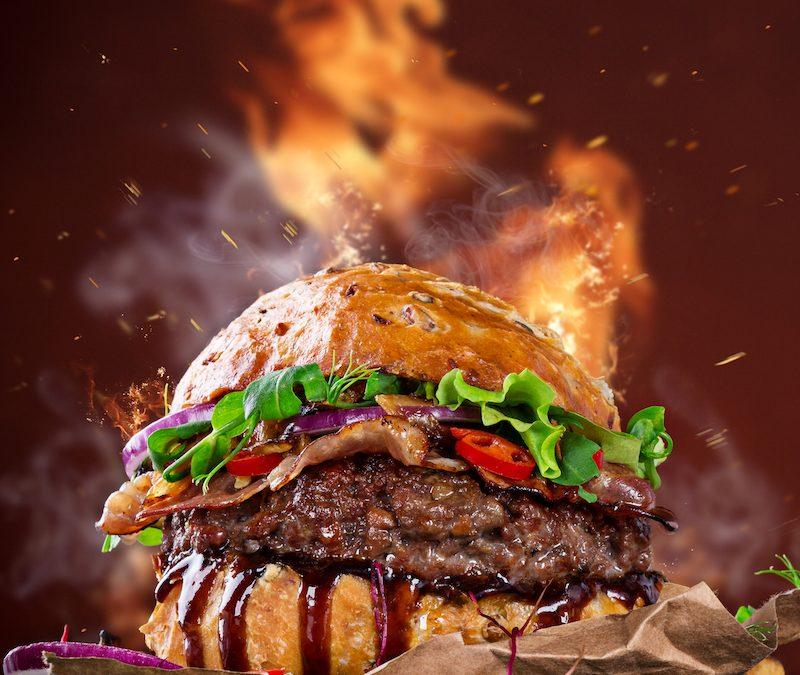 Feta-Stuffed Hamburgers