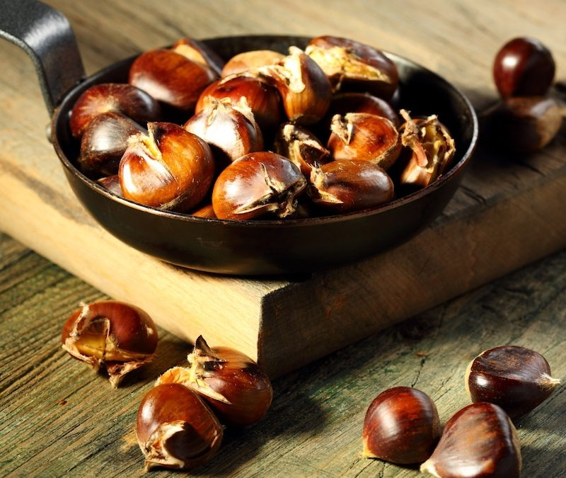 Homemade Roasted Chestnuts for Christmas