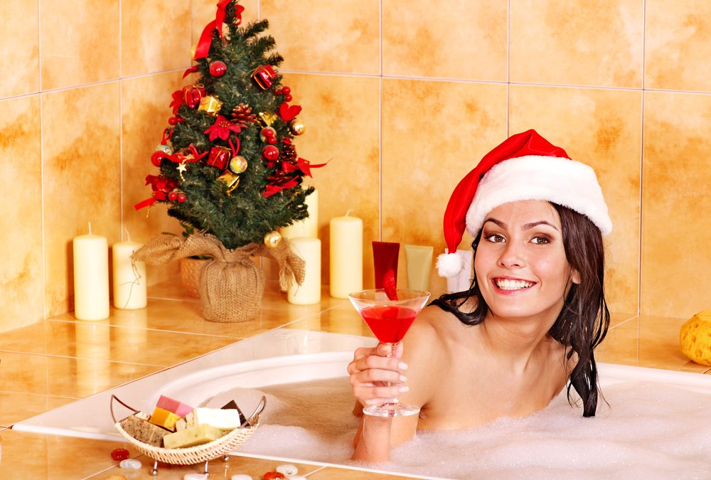Christmas In The Hot Tub